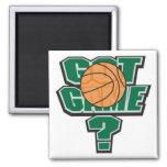 diseño conseguido del baloncesto del juego imanes para frigoríficos