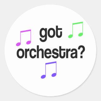Diseño conseguido divertido de la orquesta pegatina redonda