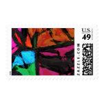 Diseño contemporáneo abstracto por el negro de sello