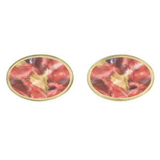 Diseño coralino del chapoteo gemelos dorados