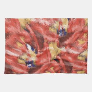 Diseño coralino del chapoteo toallas de mano