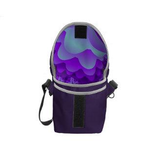 Diseño coralino del fractal de la burbuja púrpura