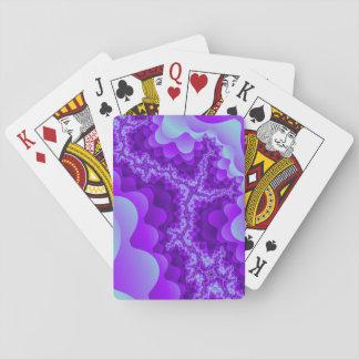 Diseño coralino del fractal de la burbuja púrpura  cartas de juego