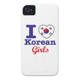 Diseño coreano de los chicas iPhone 4 carcasa