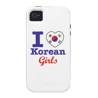 Diseño coreano de los chicas iPhone 4 carcasas