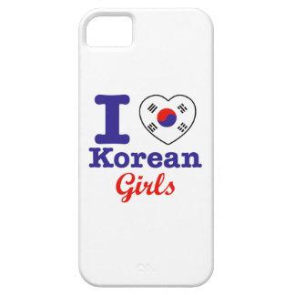 Diseño coreano de los chicas iPhone 5 carcasa