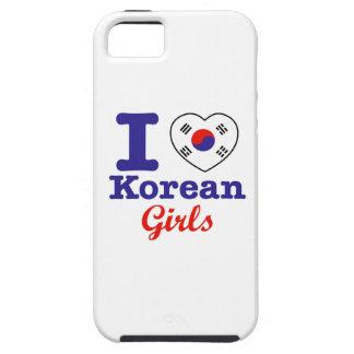 Diseño coreano de los chicas iPhone 5 fundas