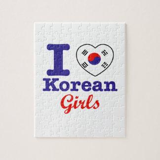 Diseño coreano de los chicas puzzles