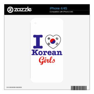 Diseño coreano de los chicas skin para el iPhone 4