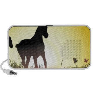 Diseño corriente de los caballos notebook altavoz