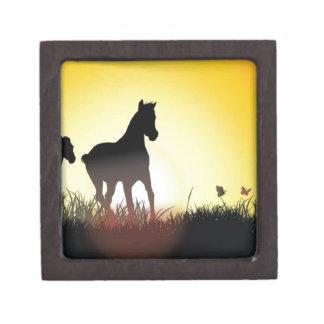 Diseño corriente de los caballos cajas de regalo de calidad
