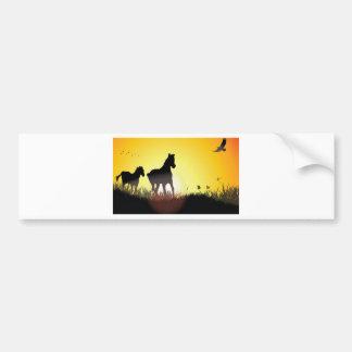 Diseño corriente de los caballos pegatina para auto