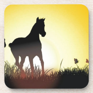 Diseño corriente de los caballos posavasos