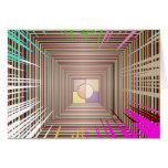 Diseño cósmico de la fuente de luz felicitaciones