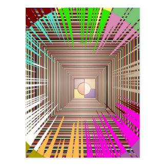 Diseño cósmico de la fuente de luz postal