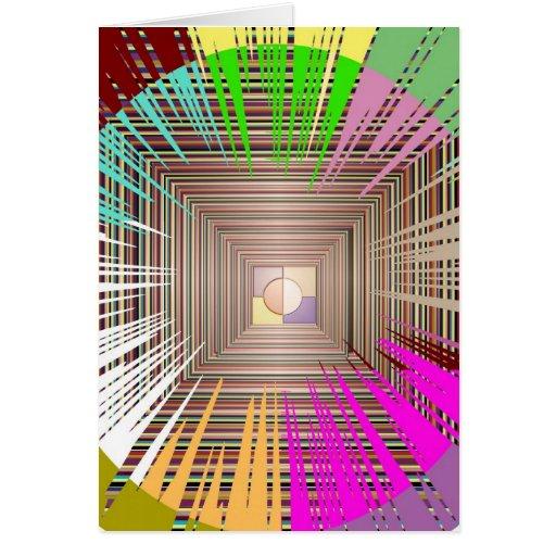 Diseño cósmico de la fuente de luz tarjetas