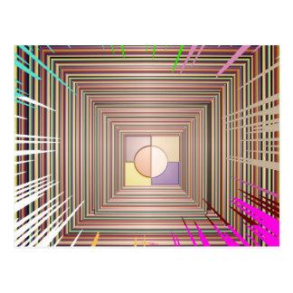 Diseño cósmico de la fuente de luz tarjetas postales
