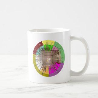 Diseño cósmico de la fuente de luz tazas de café