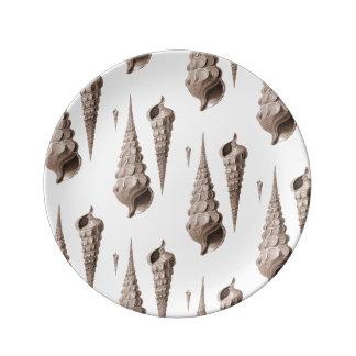 Diseño costero de la decoración del Beachcomber de Platos De Cerámica