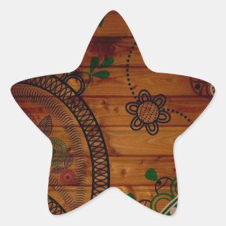 Diseño creativo de Juan Pegatina En Forma De Estrella