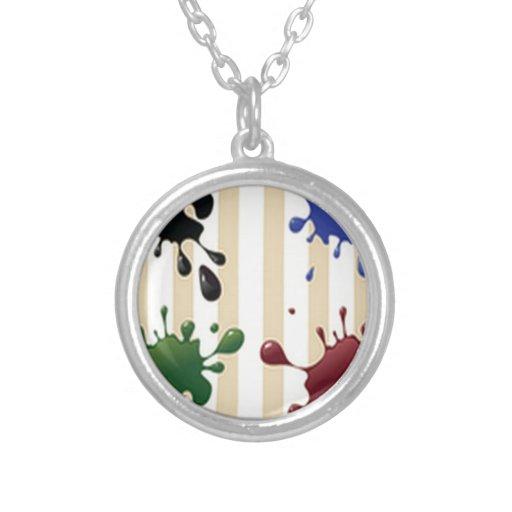 Diseño creativo del chapoteo collar personalizado