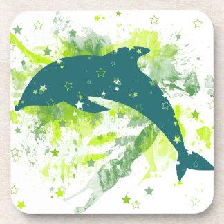 Diseño creativo del delfín posavasos de bebida