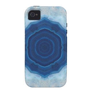 ¡Diseño cristalino de la ágata azul! iPhone 4/4S Funda
