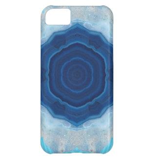 ¡Diseño cristalino de la ágata azul! Funda Para iPhone 5C