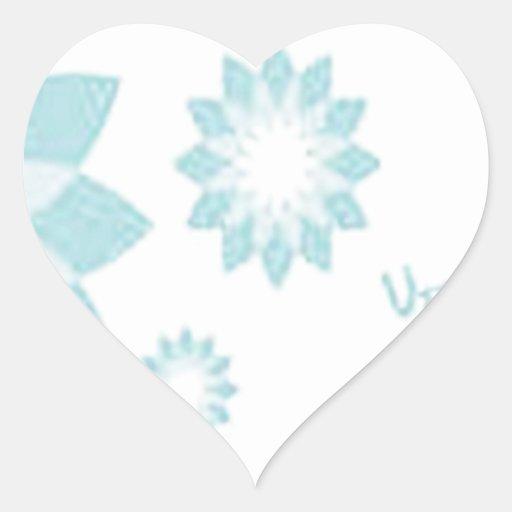 Diseño cristalino impresionante pegatina en forma de corazón