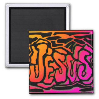 Diseño cristiano anaranjado de neón del regalo de  iman de frigorífico