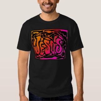 Diseño cristiano anaranjado de neón del regalo de poleras