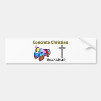 Diseño cristiano concreto del conductor de camión etiqueta de parachoque