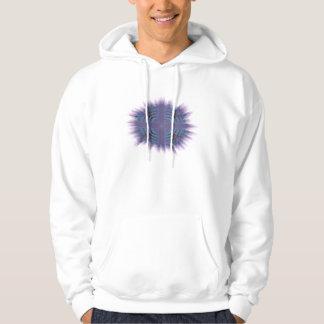 Diseño cristiano cruzado púrpura del arte sudadera encapuchada