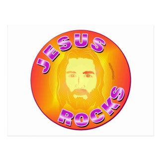 Diseño cristiano de las rocas de Jesús Postal