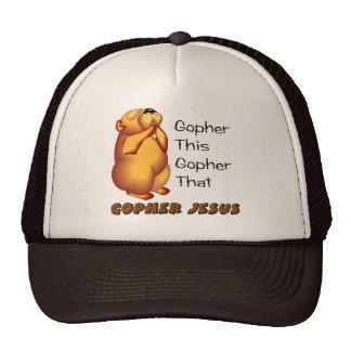 Diseño cristiano de rogación del Gopher Gorras De Camionero