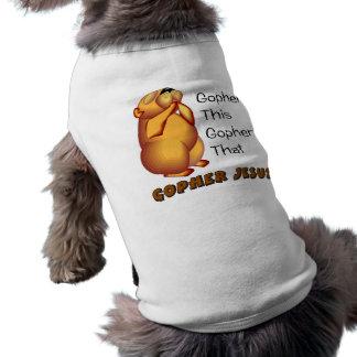 Diseño cristiano de rogación del Gopher Playera Sin Mangas Para Perro