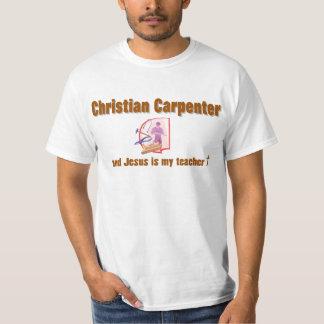 Diseño cristiano del carpintero polera