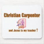 Diseño cristiano del carpintero tapete de ratones