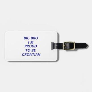 Diseño croata etiqueta para maleta