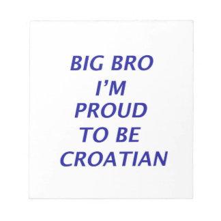 Diseño croata libretas para notas