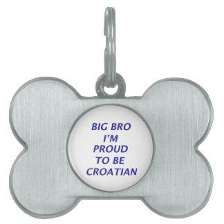 Diseño croata placa mascota