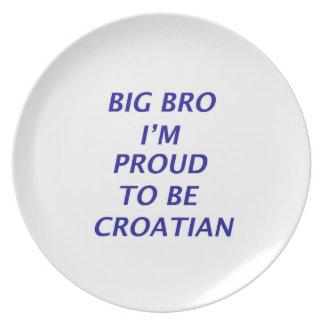 Diseño croata plato de cena