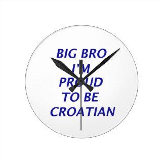 Diseño croata reloj redondo mediano