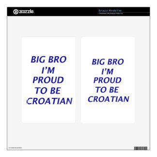 Diseño croata skin para kindle fire