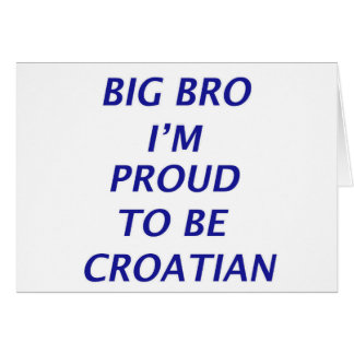 Diseño croata tarjeta de felicitación