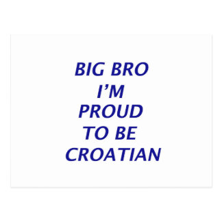 Diseño croata tarjetas postales