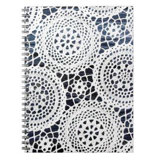 Diseño Crocheted vintage impresionante del tapetit Libretas Espirales