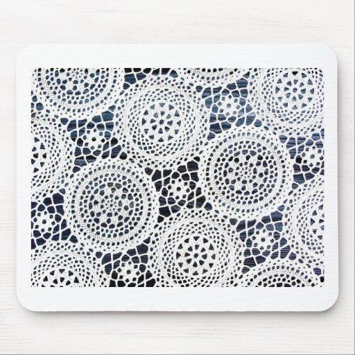 Diseño Crocheted vintage impresionante del tapetit Alfombrillas De Ratón
