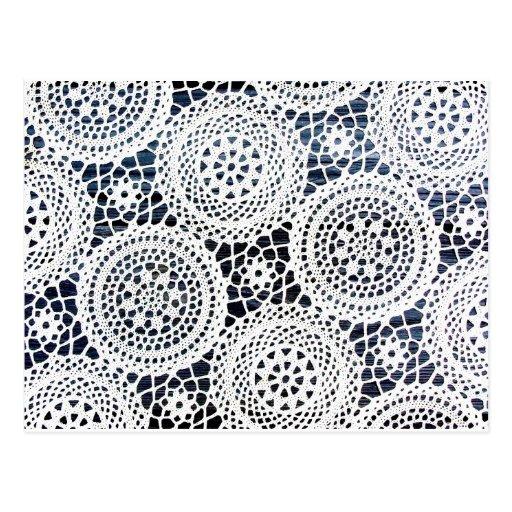 Diseño Crocheted vintage impresionante del tapetit Tarjetas Postales