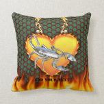 Diseño cromado 1 del escorpión con el fuego almohada